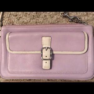 Coach lavender wristlet
